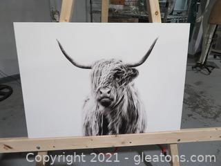 """Portrait of a Highland Cow"" Canvas Wall Art by Dorit Fuhg"