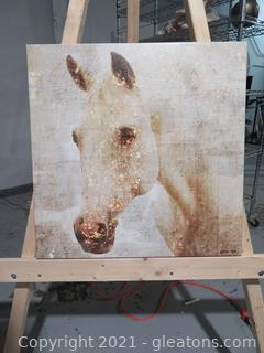 Lot of 2 Horse Canvas Wall Art