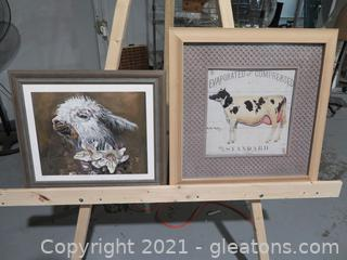 Lot of 2 Framed Animal Pictures