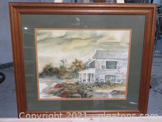 C. Winterle Olson Watercolor Framed, Signed