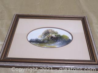 Framed Jan Dorer, Signed Watercolor