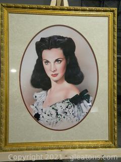 Framed Scarlett O'Hara Portrait
