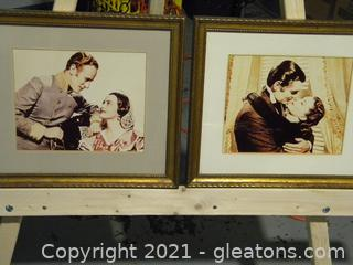 """Pair of Framed """"Gone with The Wind"""" Photos"""