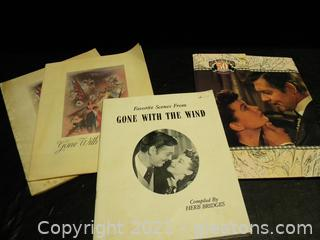"""""""Gone with The Wind"""" Promotional Materials"""