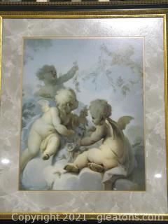 Framed Cherub Print