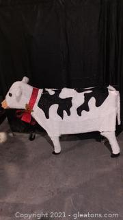 Charming Christmas Cow
