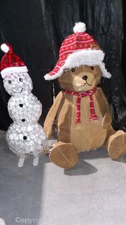 2 Cute Light Up Christmas Decorations