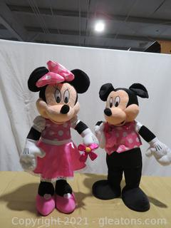 """Very Large (26""""H) Mickey and Minnie Mouse"""