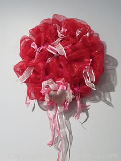 """Lovely Large (28"""") Valentines Day Wreath"""