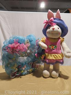 Lot of 2 Adorable Easter Decorations