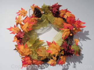 Lot of 3 Charming Fall Grapevine Wreaths