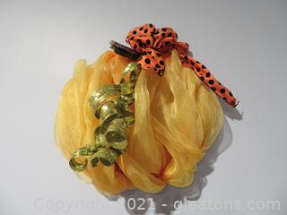 Pumpkin Wreath and Faux Fruit for Decorating