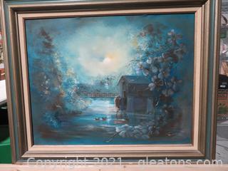 Blue Betty Marston Oil Painting