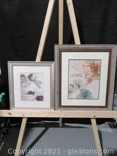 Lot of 2 Flower Pictures