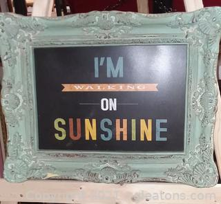 "Shabby Chic ""I'm Walking on Sunshine"" Framed Print"