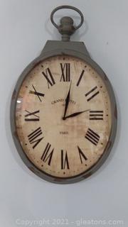 Gray Iron Wall Clock