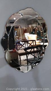 Beautiful Scalloped Edge Mirror with Double Mirror Edge