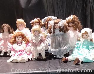 9 Lovely Porcelain Dolls