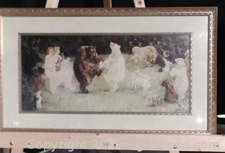 """Framed Fanciful Print """"The Rites of Spring """" by Frederick Stewart Church"""
