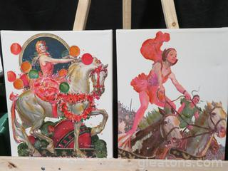 Lot of Canvas Pictures-Daring Women