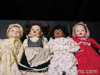 Lot of 4 Porcelain Babies