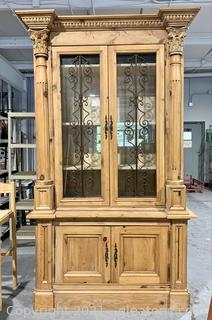 Magnificent Wood Carved China/Display Hutch