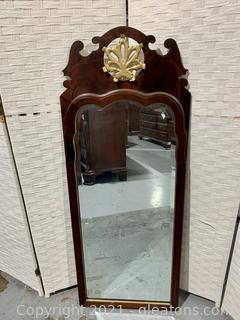 Scalloped Carved Wall Mirror