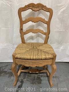 Leaf Design Ladder Back Dining Chair