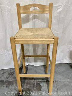 Hightop Bar Stool with Rush Seat