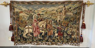 Inviting Scenic Castle Wall Tapestry