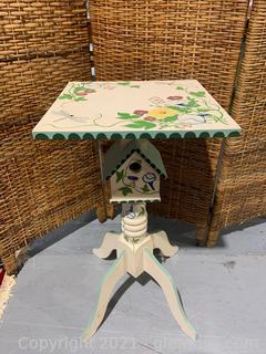 Whimsical Bird House Table
