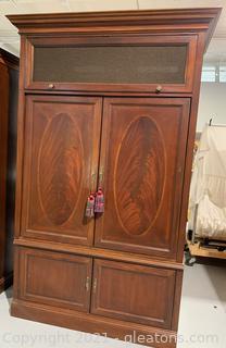 Burled & Inlaid Grand Media Armoire