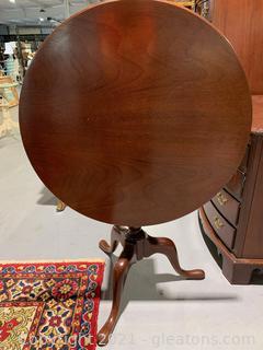 Timeless Tilt Top Mahogany Pedestal Table
