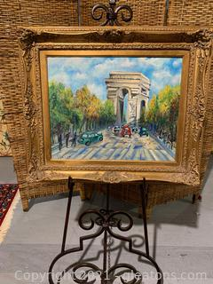 Signed Painting of the Arc de Triomphe, by Thenon
