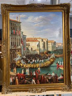 Amazing Painting of Gondolas
