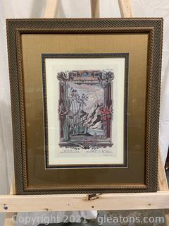 "Print From Johann Jakob Scheuchzers ""Physica Sacra"""