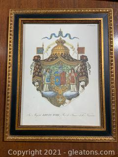 Louis XVIII Coat of Arms Print