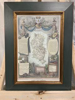 French Departmental Map Print