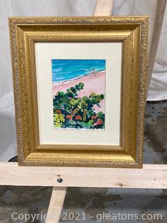 Watercolor Print, Bay Grapes, Bermuda by R.Vallie