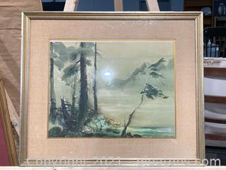 Imaginary Watercolor Landscape No.I By Tyrus Wong