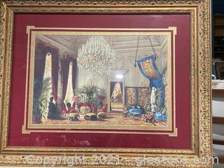 Wall Art Beautiful Parlor/Sitting Room W/Chandelier