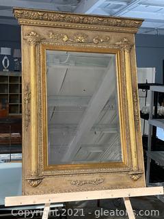 Gorgeous French Empire Style Gilt Pier Mirror