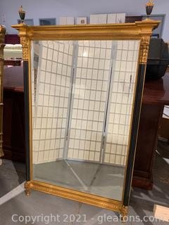 Carver's Guild Pillar Sheraton Mirror W/ Finials
