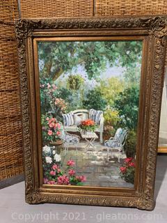 Tranquil Garden Scene Painting