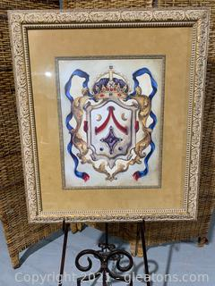 Framed Picture of a Coat of Arms