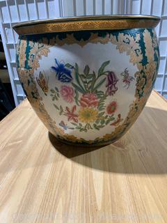 Asian Inspired Porcelain Urn
