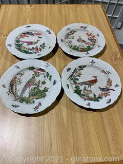 United Wilson Decorative Plates with Bird Motif (lot of 4)
