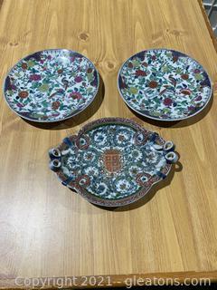 United Wilson Decorative Plates (Lot of 3)