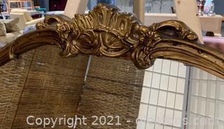 Timeless Gold Mirror W/ Beautiful Flower Design on Frame