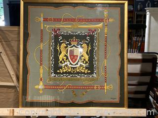 Impressive Royal Coat of Arms Framed Art